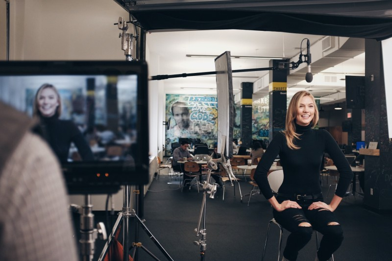 Bindery » On Location: Karlie Kloss at the Flatiron School